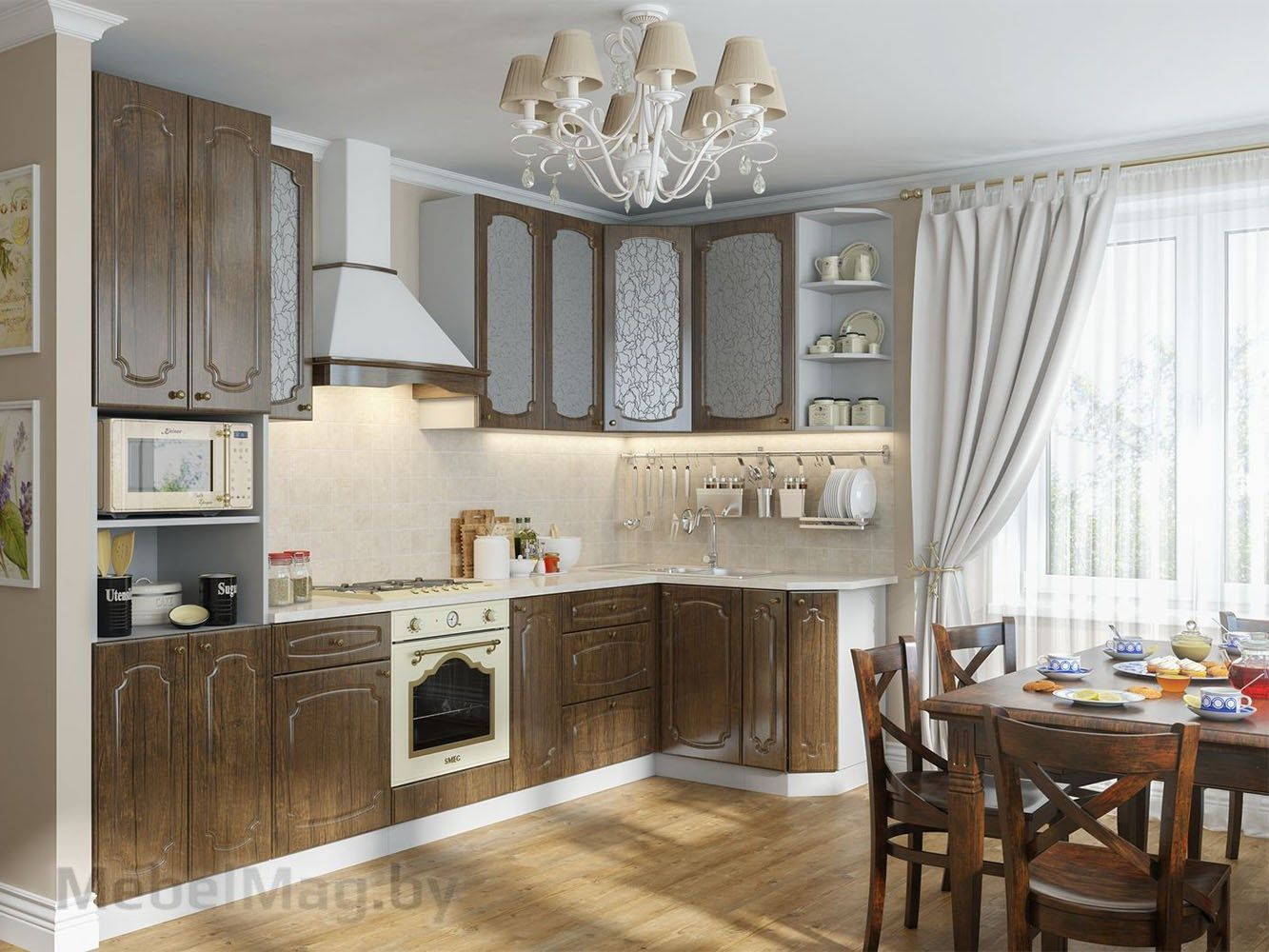 Кухня Классика - Тиковое дерево