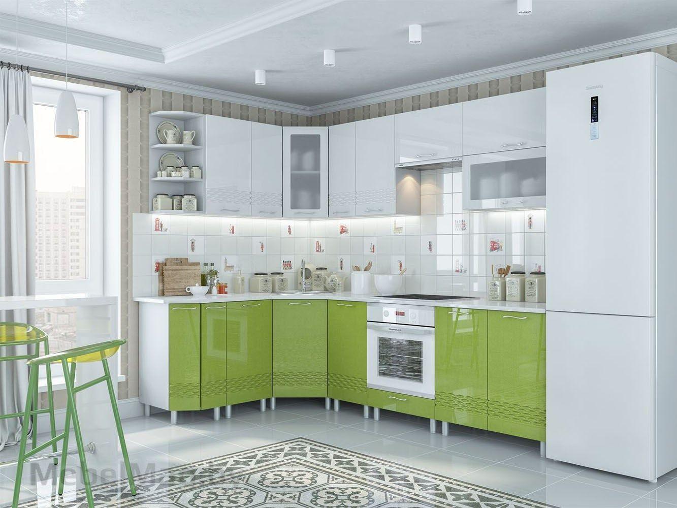 Кухня Волна - Олива металлик