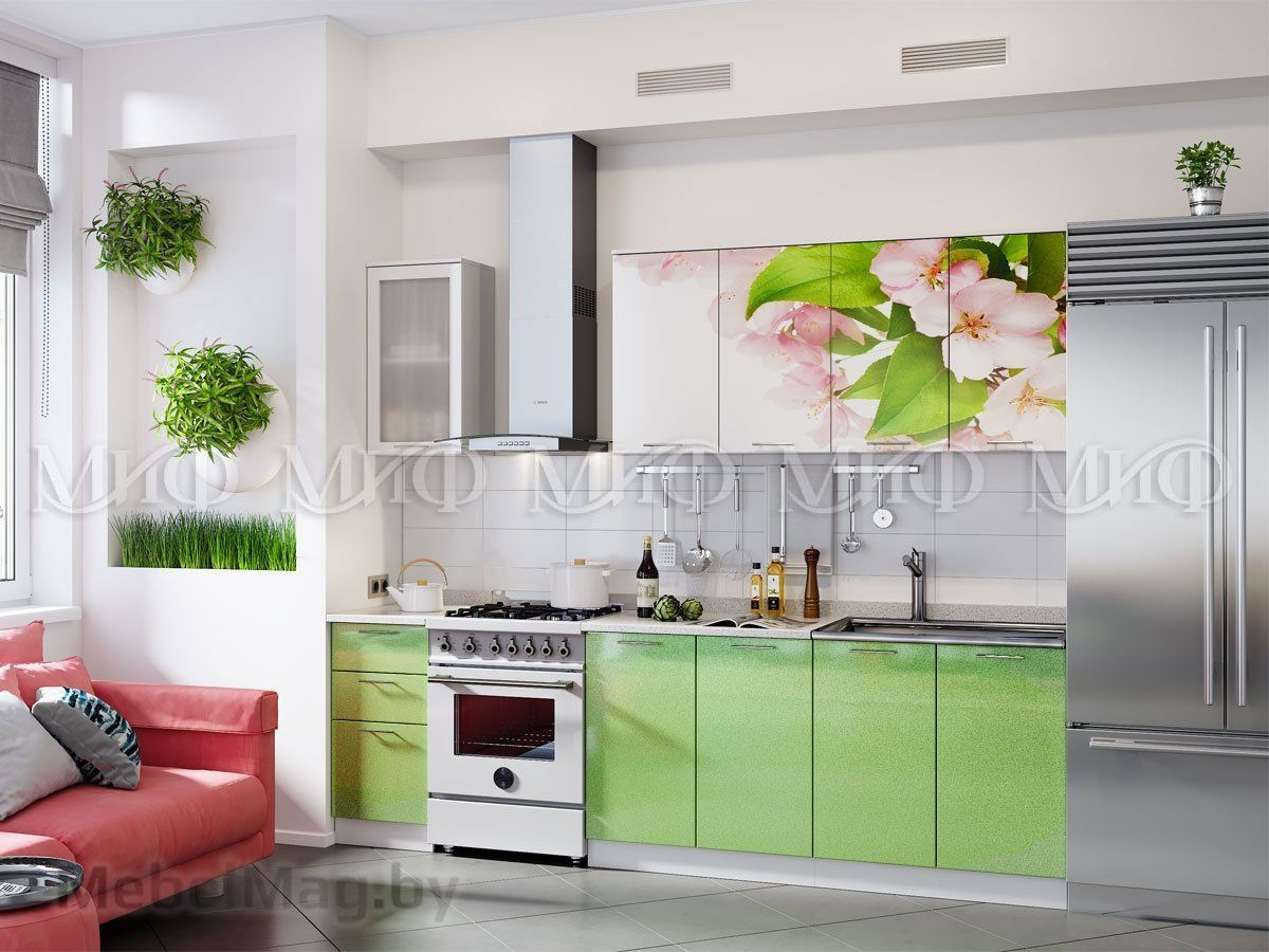 Кухня Яблоневый цвет