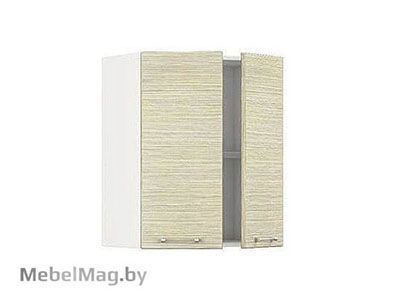 Шкаф-антресоль ША-60-2Д Белый/Зебрано Сахара - Кухня Шанталь 1