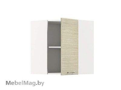 Шкаф-антресоль ШАУ-60 Белый/Зебрано Сахара - Кухня Шанталь 1