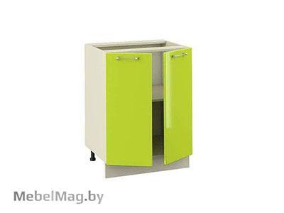Рабочий стол  РСМ-60-2Д Лайм Глянец - Кухня Шанталь 2