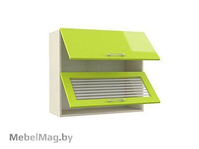 Шкаф-антресоль  ШАВ-80-2Д Лайм Глянец - Кухня Шанталь 2