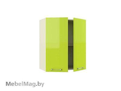 Шкаф-антресоль  ШАС-60-2Д Лайм Глянец - Кухня Шанталь 2