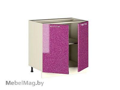 Рабочий стол РСМ-80 Малиновый Металлик - Кухня Шанталь 2