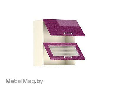 Шкаф-антресоль ШАВ-60-2Д Малиновый Металлик - Кухня Шанталь 2