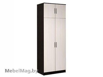 Шкаф 2-х створчатый комбинированный Венге/Дуб молочный - Машенька