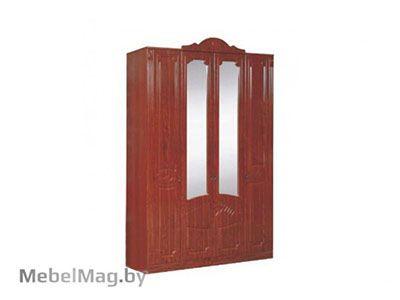 Шкаф 4-х  створчатый МДФ Орех Мария Луиза/Кальвадос - Спальня Арина