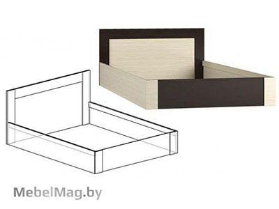 Кровать 1600 Венге/Ясень шимо светлый - Коллекция Берта 1