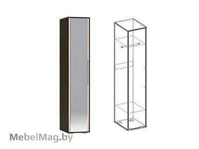 Пенал с зеркалом Венге/Ясень шимо светлый - Коллекция Берта 1