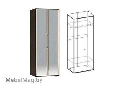Шкаф 2х створчатый с зеркалом  Венге - Коллекция Берта 1
