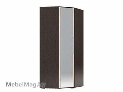 Шкаф угловой с зеркалом Венге/Ясень шимо светлый - Коллекция Берта 1