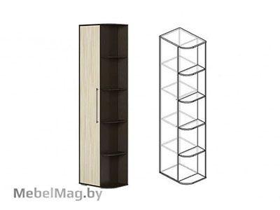 Шкаф-стеллаж Венге/Ясень шимо светлый - Коллекция Берта 1
