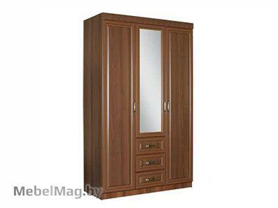 Шкаф 3-х створчатый, Орех Пегасо - Спальня Линда