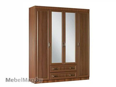 Шкаф 4-х створчатый, Орех Пегасо - Спальня Линда