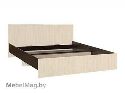 Кровать двуспальная прямая спинка 1400мм Венге - Коллекция Светлана