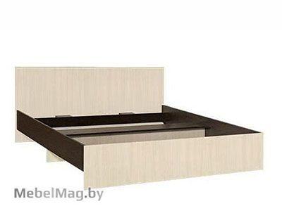 Кровать двуспальная прямая спинка 1600мм Венге - Коллекция Светлана