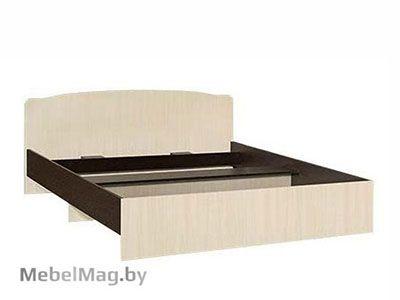 Кровать двуспальная фигурная спинка 1400мм Венге - Коллекция Светлана