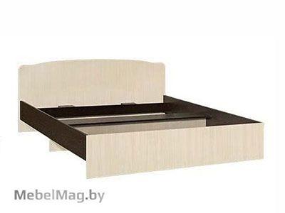 Кровать двуспальная фигурная спинка 1600мм Венге - Коллекция Светлана