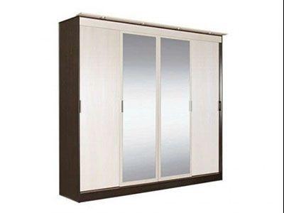Шкаф-купе 4-х створчатый  с 2 зеркалами Венге - Коллекция Светлана