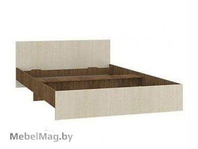 Кровать двуспальная прямая спинка 1600мм Ясень шимо темный - Светлана