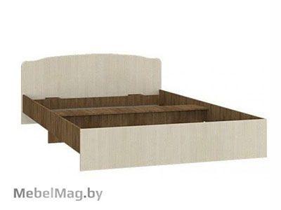 Кровать двуспальная фигурная спинка 1600мм Ясень шимо - Светлана