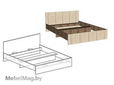 Кровать односпальная прямая спинка 900мм Ясень шимо - Светлана
