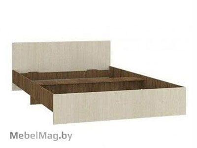 Кровать полуторная прямая спинка 1200мм Ясень шимо - Светлана