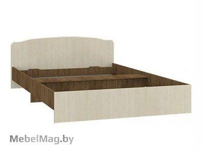 Кровать полуторная фигурная спинка 1200мм Ясень шимо - Светлана