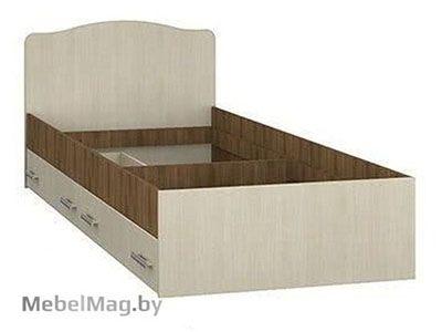 Кровать с ящиками Ясень шимо темный/светлый - Коллекция Светлана