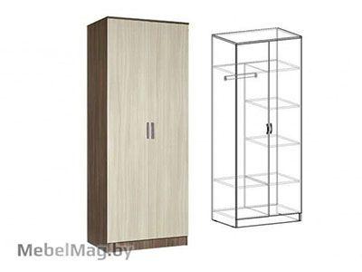 Шкаф 2-х створчатый комбинированный Ясень шимо - Светлана