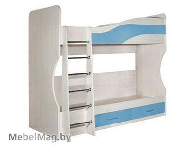 Кровать двухэтажная, Небесно-голубая - Детская Симба