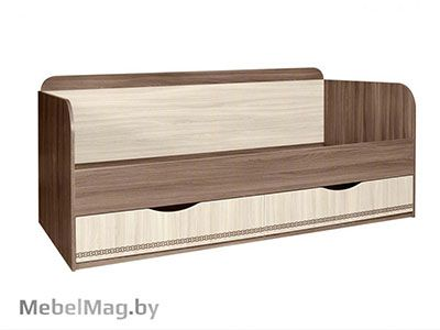 Кровать с ящиками б/о, б/м - Детская Сенди