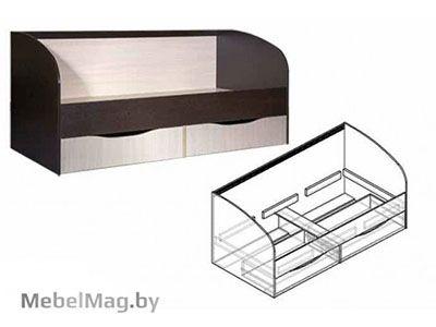 Кровать с ящиками б/о, б/м  - Детская Спайдер