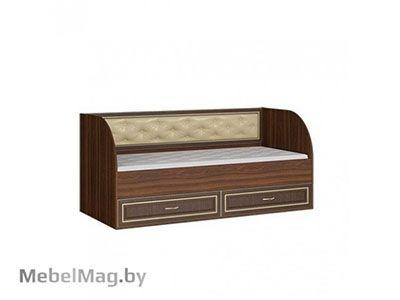 Кровать с ящиками Орех/Орех - Коллекция Виктория