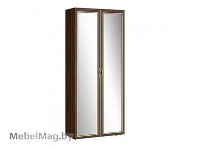 Шкаф 2х створчатый с зеркалом (440) Орех/Орех - Коллекция Виктория