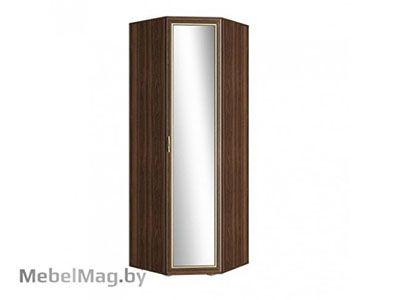 Шкаф угловой с зеркалом (440) Орех/Орех - Коллекция Виктория