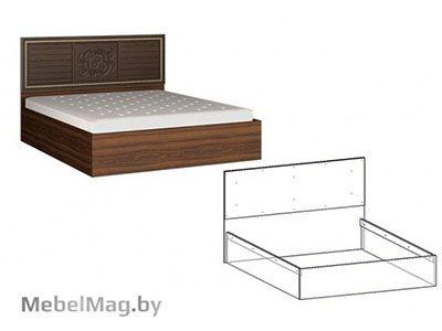 Кровать 1600 ИЗГОЛОВЬЕ МДФ Орех/Орех - Коллекция Виктория