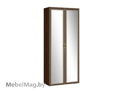 Шкаф 2х створчатый с зеркалом  (540) Орех/Орех - Коллекция Виктория