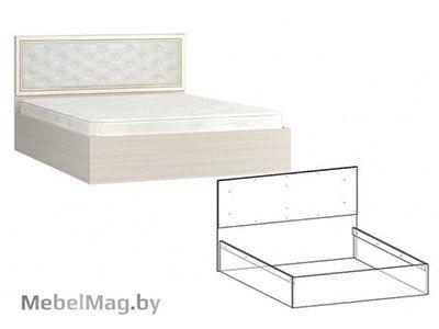 Кровать 1200 мягкое изголовье (Ясень) - Коллекция Виктория