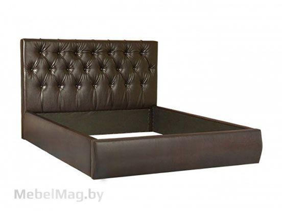 Мягкая кровать Монако 1 (темная кожа)