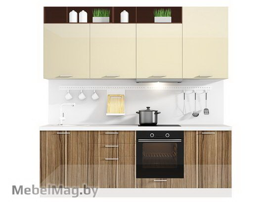 Прямая кухня Кухня Lacatto 2400-3