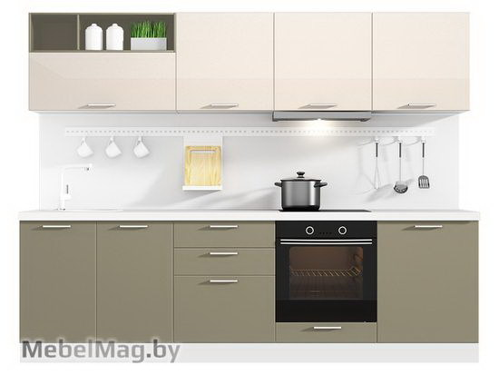 Прямая кухня Кухня Brillo 2700-4