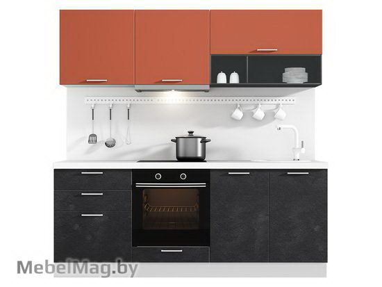 Прямая кухня Кухня Plastica 2100-3