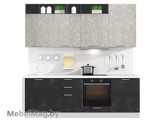Прямая кухня Кухня Plastica 2400-1