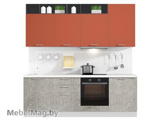 Прямая кухня Кухня Plastica 2400-2