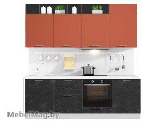 Прямая кухня Кухня Plastica 2400-3