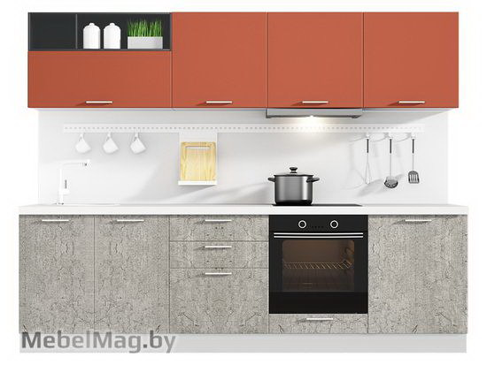 Прямая кухня Кухня Plastica 2700-2