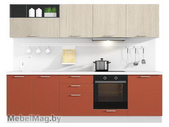 Прямая кухня Кухня Plastica 2700-4
