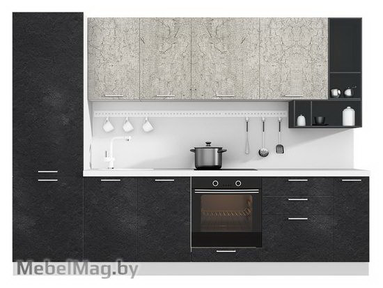 Прямая кухня Кухня Plastica 3000-1